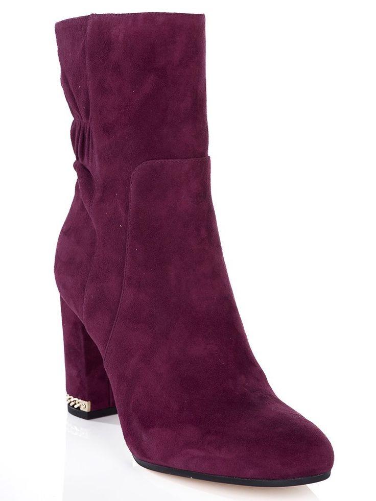 Michael Kors Plum Mid Dolores Suede Boots