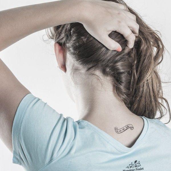 Tatouage éphémère la vie est belle de bertrand forever
