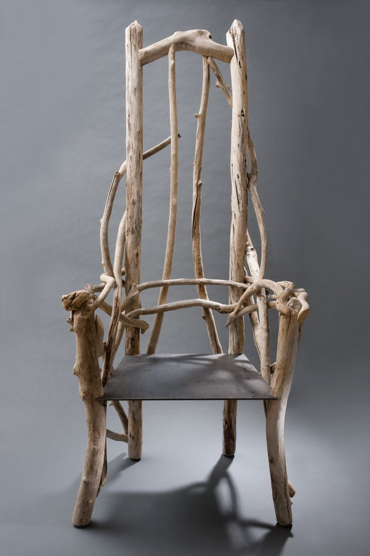 Driftwood Chair with plate steel seat.