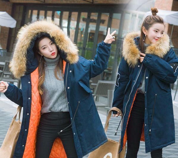 Hot Womens Cotton Blend Parka Padded Jacket Loose Oversize Faux Fur Hooded Coat