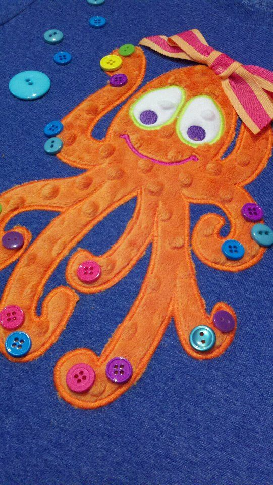 Funky Olivia Octopus Machine Applique Designs by ohhsooxford, $5.00