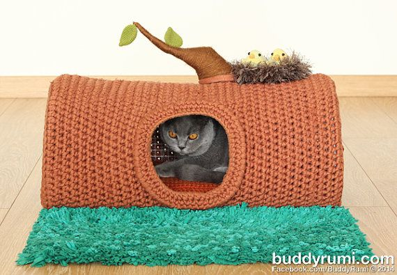 PATTERN A House in the Forest pet crochet bed cat by BuddyRumi, $8.00