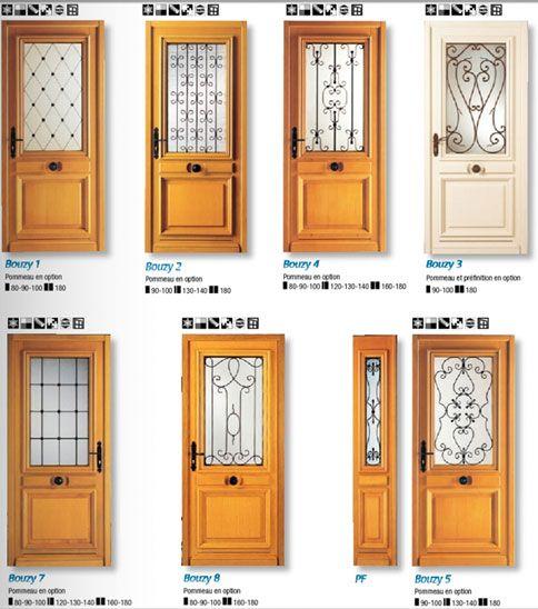 38 best images about portes d 39 entr e de style on pinterest for Largeur porte fenetre standard
