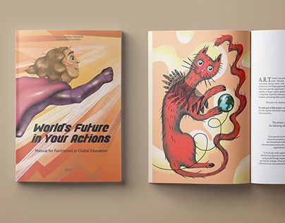 """Check out new work on my @Behance portfolio: """"World's Future in Your Actions manual"""" http://be.net/gallery/60141917/Worlds-Future-in-Your-Actions-manual"""