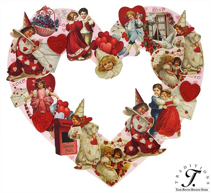 17 Best images about Vintage Valentine Decorations on ...
