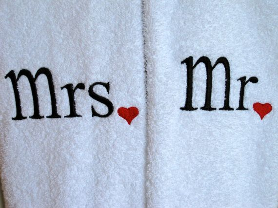 Mr+and+Mrs+embroidered+HAND+TOWEL+set+for+by+ExcellentEmbroidery,+$20.00