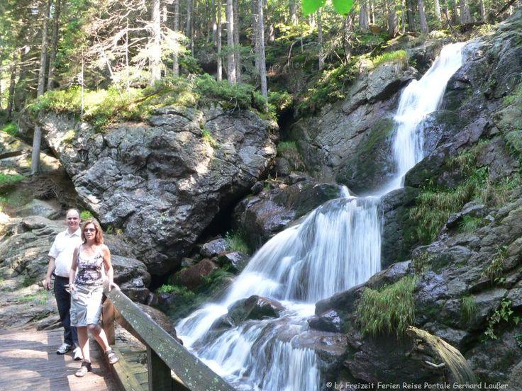 Wandern Rieslochwasserfälle Bodenmais Bayerischer Wald Wanderung Rieslochschlucht - Parkplatz/Ausgangspunkt: Riesloch-Parkplatz Wanderparkplatz am Ortsrand bei Bodenmais (Beschilderung Riesloch folgen)