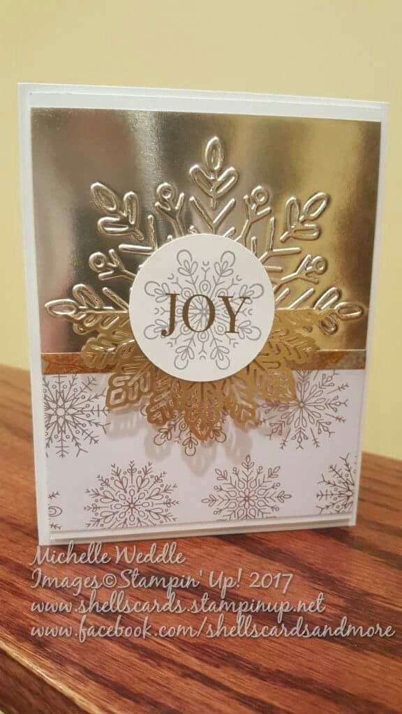Card Making Ideas Stampin Up Part - 35: Snowflake Doilies -Lg Snowflake EF- Stampinu0027 Up! Winter Cards ...