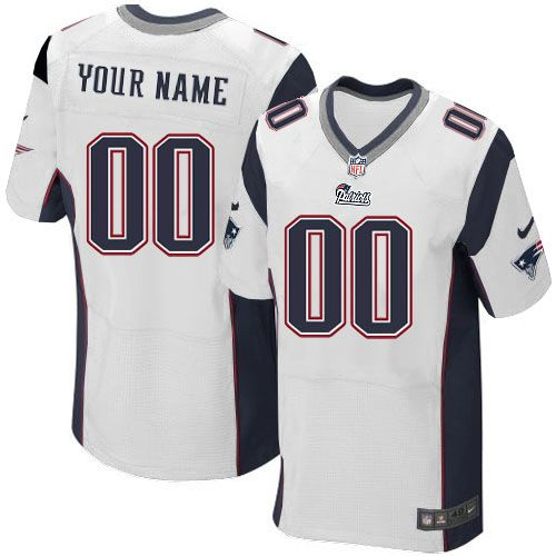 mens nike new england patriots customized elite white nfl jersey