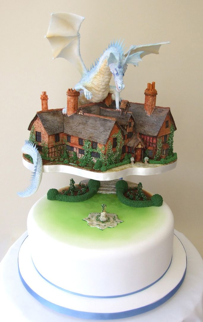 Amazing dragon wedding cake by Lou's Amazing Cakes, featured on www.guidesforbrides.co.uk