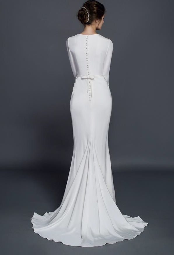 1000 Ideas About Sleeve Wedding Dresses On Pinterest Backless Wedding Wed