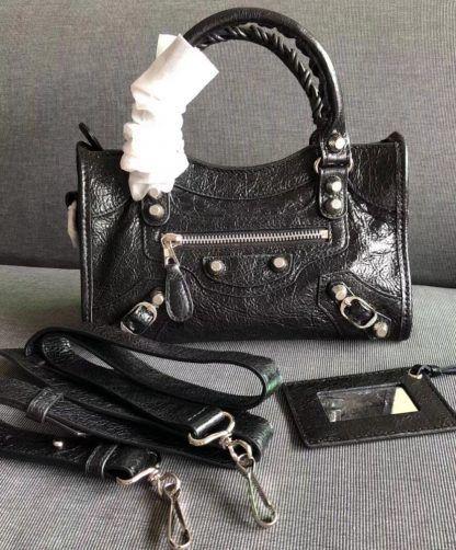 b3d441587a1 Replica Balenciaga Arena Leather Mini City Bag Black #6920 2   outfi ...