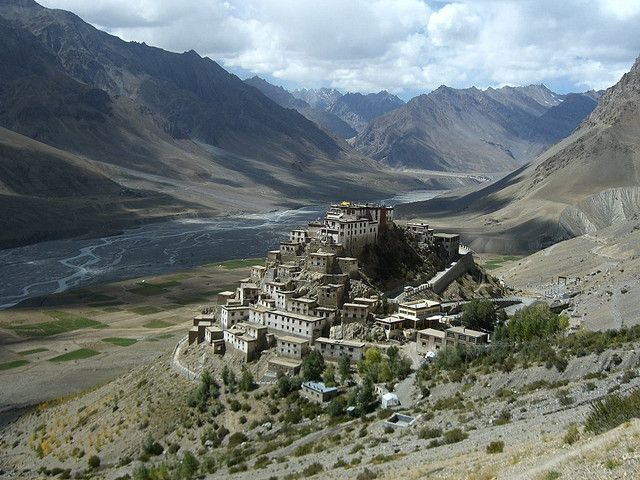 Key Gompa or Ki Monastery is a thousand year old Tibetan Buddhist monastery located prominently on top of a hill at an altitude of 4,166 meters (13,668 feet) in the Spiti Valley.