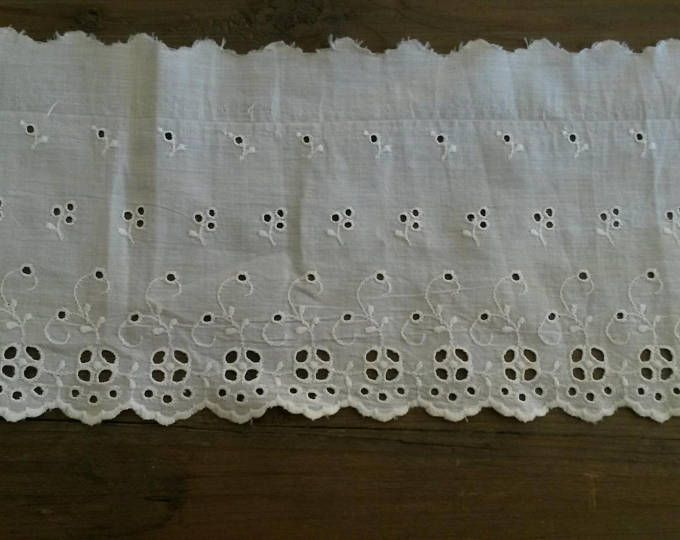 blanco antiguo ojal de algodón 140 cm
