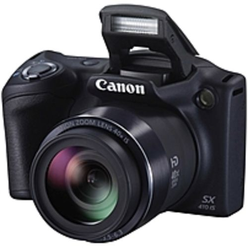 Canon PowerShot SX410 IS 20 Megapixel Compact Camera - Black - 3 LCD - 16:9 - 40x Optical Zoom - 4x - Optical (IS) - TTL - 4608 x 3456 Image - 1280 x 720 Video - PictBridge - HD Movie Mode
