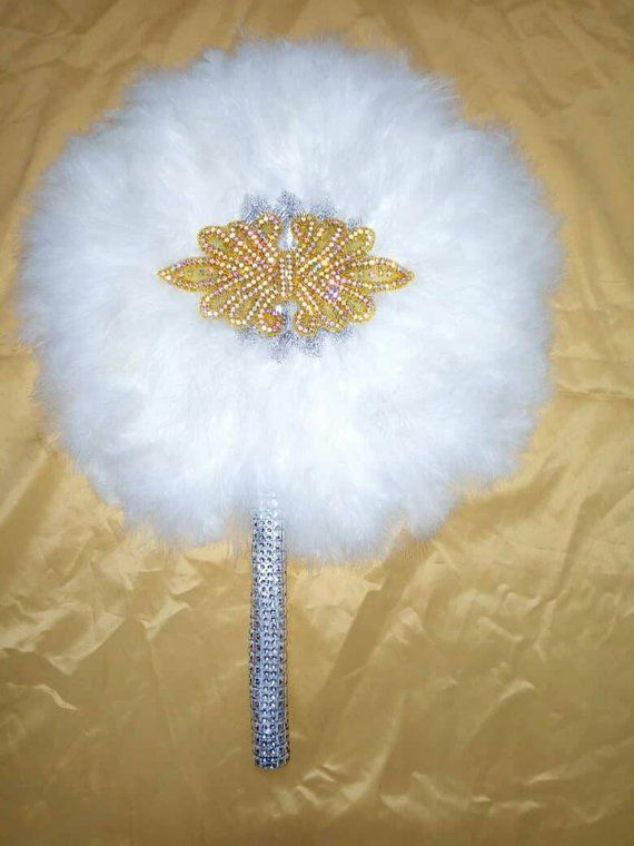 Round Shaped Feather Traditional African Wedding Hand Fan Etsy In 2020 Hand Fans For Wedding Wedding Hands Wedding Fans