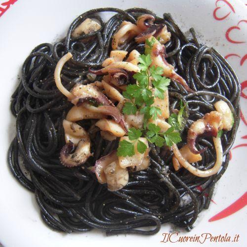 pasta al nero di seppia ricetta