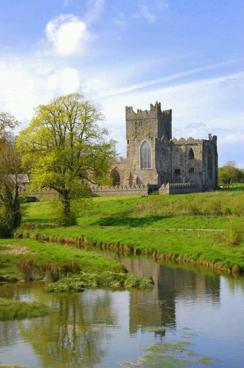 Tintern abbey, Wexford, Ireland - Tintern Abbey, Saltmills. co. Wexford – c.1200   Tintern Abbey was founded by William, the Earl Marshall in c.1200. Marshal who had set sail for Ireland on his first visit as Lord of Leinster...The abbey was colonised by monks from the Cistercian abbey at Tintern in Wales, (hence the name) which Marshal was also patron.