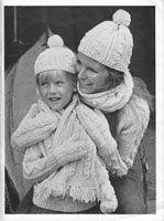 vintagek hat and scarf aran knitting patterns