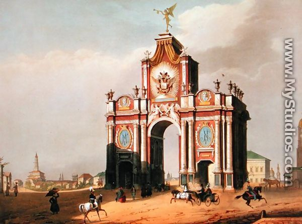 The Red Gate, Moscow, 1757. by dimtry Ukhtomshy