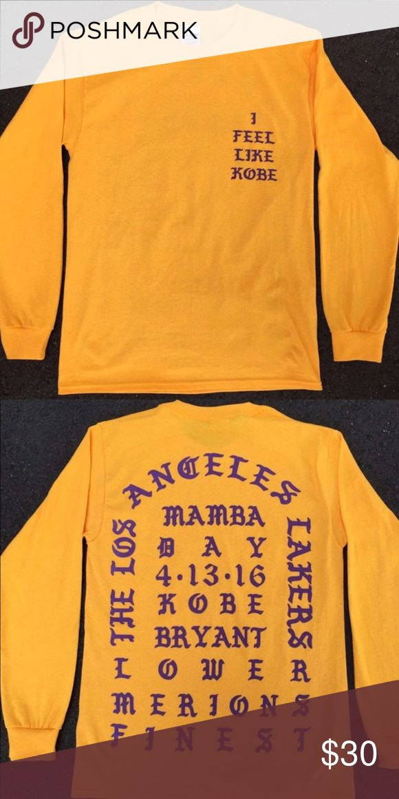 I feel like Kobe shirt New only worn once100% authentic Tops Tees - Long Sleeve