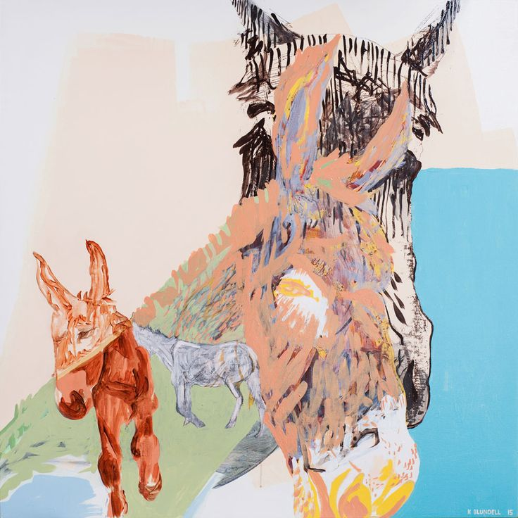 Katie Blundell Artist, What an arse, Acrylic and mix media painting on poplar floating panel, 1200mm H x 1200mm W, 2015. People have long documented their experience and appreciation of animals. This work was inspired by being amongst these two donkeys and their constant movement. By montaging animals and surrounding steep hill landscape I hoped to trace existence much like the…Continue reading →