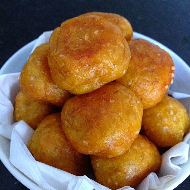 Deep Fried Kumara Balls Recipe (炸番薯蛋) - coasterkitchen - Dayre