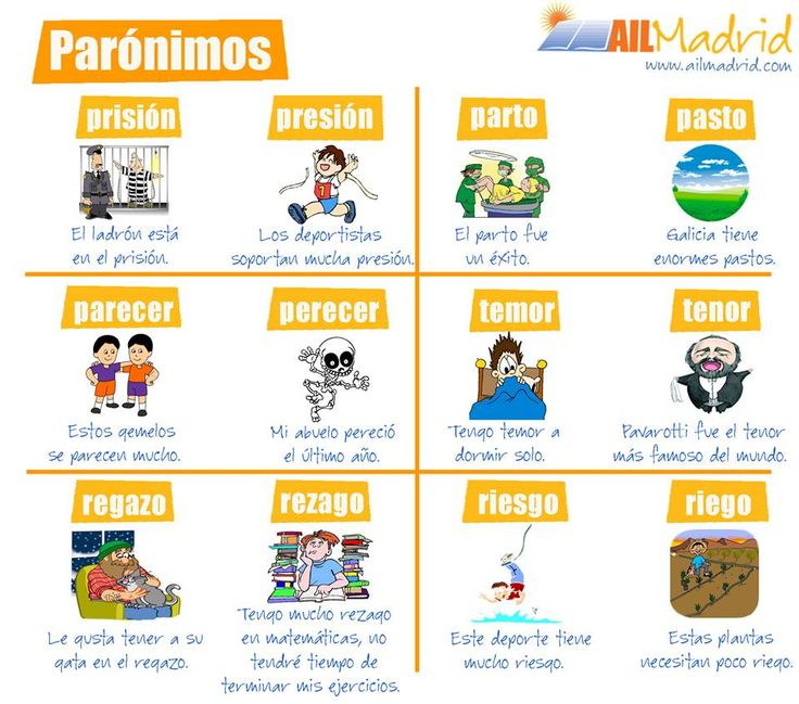 Parónimos There are some