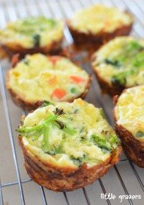 These are great little quiches that even your fussy ones will love (providing you fill with a filling they enjoy). They are great served warm or cold, so perfect to add to your kids lunch boxes too…