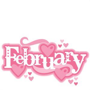February Title SVG scrapbook cut file cute clipart files for silhouette cricut pazzles free svgs free svg cuts cute cut files