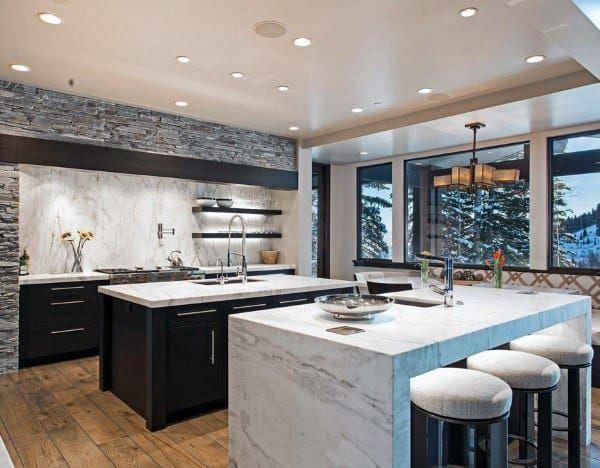 Top 70 Best Kitchen Island Ideas Gourmand S Dream Designs Small Modern Kitchens Contemporary Kitchen Modern Kitchen Design