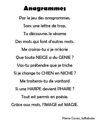 Pierre CORAN : Anagrammes (1990) CP