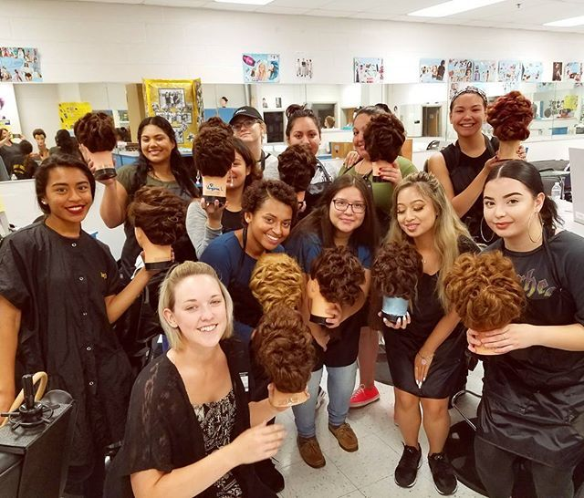 """""""Thank you to Lee High School, and Hayfield Secondary School last week, for having me come to teach updos! Last week I taught a low, loose curly bun and today the girls learned how to do a curly mohawk 😊"""" by @loveletters_bykayla. #свадьба #невеста #prewedding #casamento #marriage #noiva #bridalstyle #weddingfashion #weddingdream #weddingidea #bridalinspiration #bridalinspo #rusticwedding #bridalgown #bridaldress #свадебноеплатье #vestidodenoiva #couture #gelinlik #gown #bridesmaids #theknot…"""