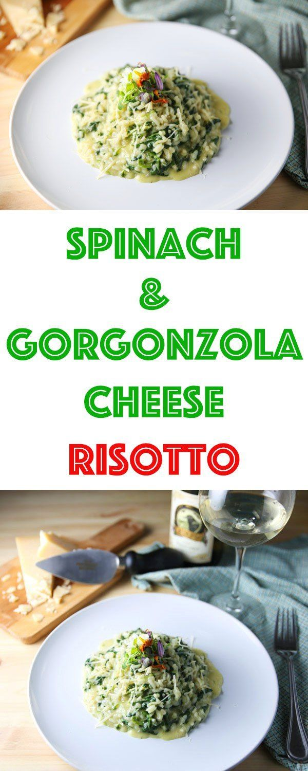 This Fresh Spinach and Gorgonzola Cheese Risotto is a true taste of Italy! Every bite is so rich and creamy, it will leave you wanting more!