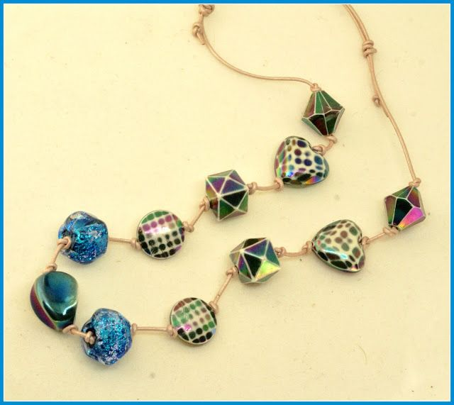 rainbow colored necklace by