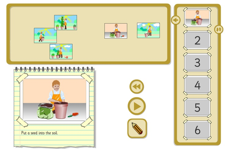 Growing a Bean - Sequencer: An instruction sequencing activity based around growing a bean. A TES iboard resource