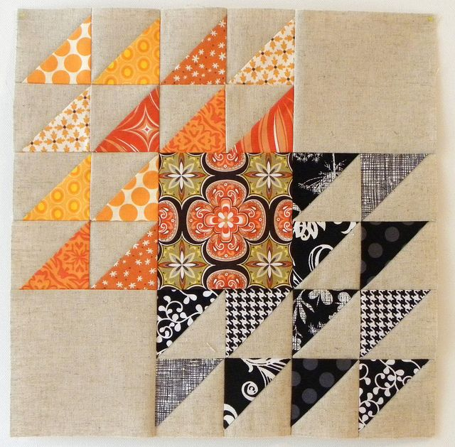 Winged Square Block for Amy - Stash Trad Bee Block for March by love2quilt7, via Flickr