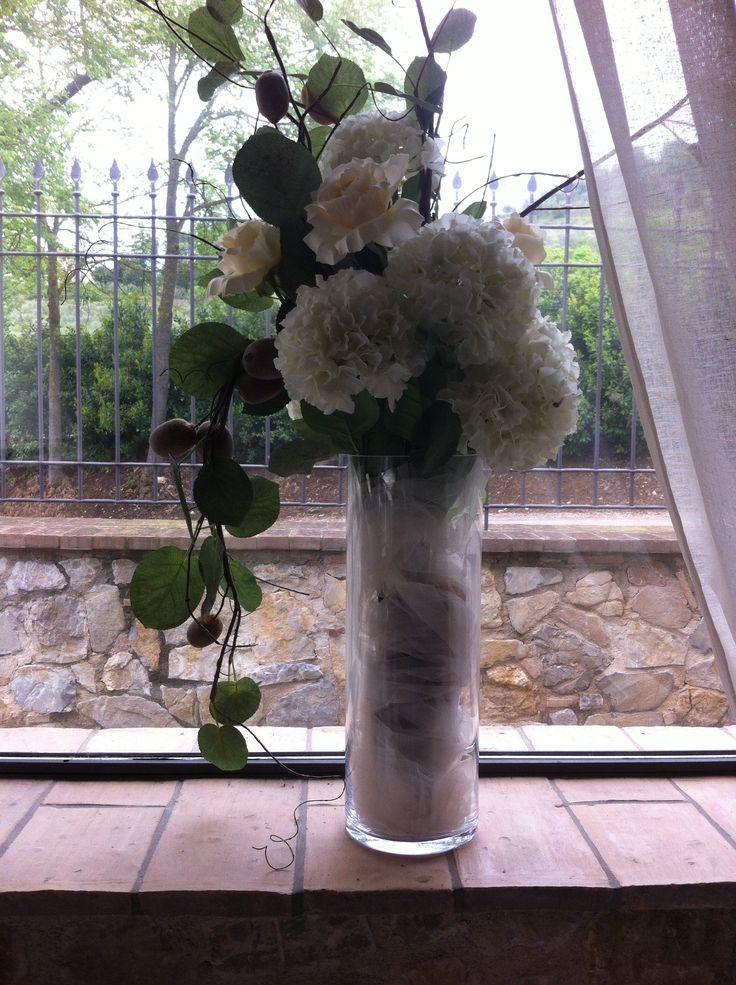allestimento, vaso, fiori, wedding www.isieventi.com