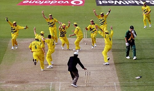 18 June 1999: It's the final over of the 1999 World Cup semi-final. Damien Fleming to bowl the last over. The destructive Lance Klusener is on strike. Here's how it pans out. 4, 4, 0, Out. Wtf, Allan Donald is run out! Klusener is crushed. The match is tied. And Australia go through to the final on superior run-rate. What a finish!