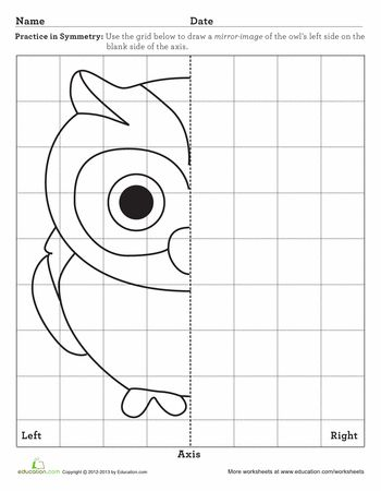 Worksheets: Learning Symmetry: Owl