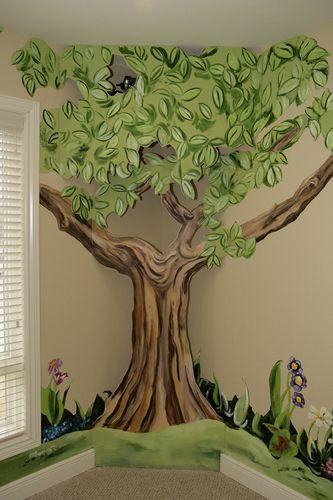 Tree mural idea for kids room