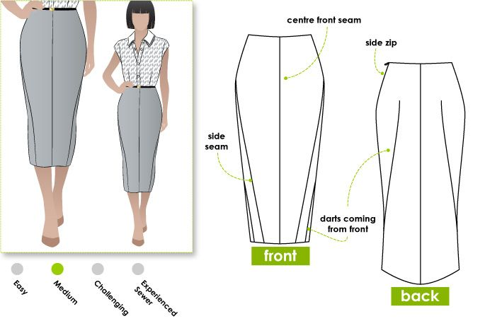 Pencil skirt with a difference | STYLEARC.com | Pinterest | Skirts ...