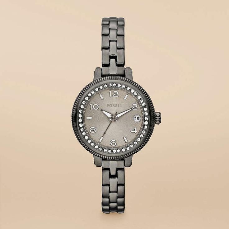 Bridgette Mini Stainless Steel Watch – Smoke