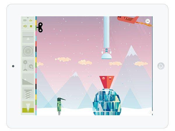 """Mit der Kinder-App """"Einfache Maschinen"""" von Tinybop kann man endlos experimentieren."""