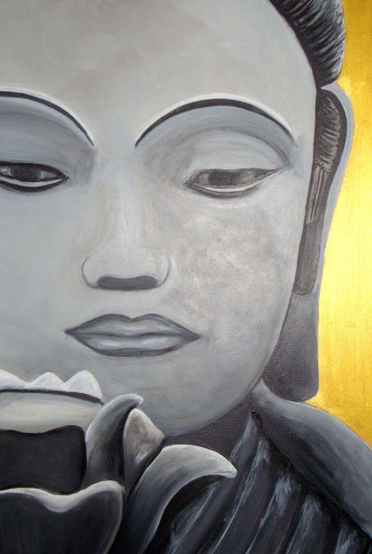 "STILL MORNING Acrylic on canvas 91cmx61cm (36""x24"") $600"