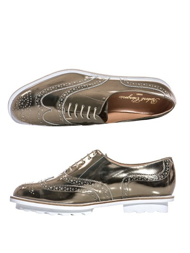 Robert Clergerie metallic brogues