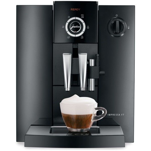 Jura 13709 Impressa F7 Automatic Coffee Center Espresso Maker (5.885 BRL) ❤ liked on Polyvore featuring home, kitchen & dining, small appliances, no color, jura espresso machine, cappuccino machine, espresso cappuccino maker, cappuccino coffee machine and espresso coffee maker