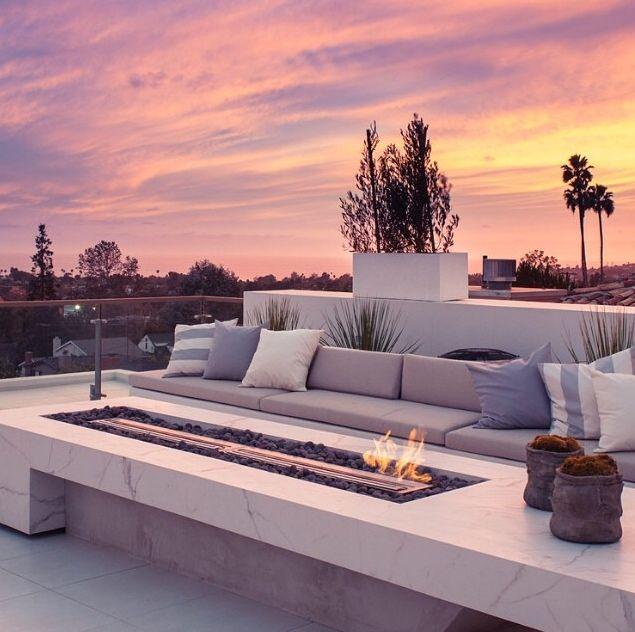 Perfect terrace for watching sunset