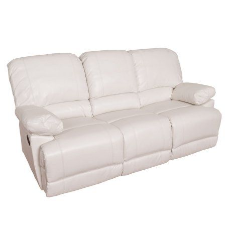 Lea Bonded Leather Reclining Sofa White  sc 1 st  Pinterest : white leather recliner sofa - islam-shia.org