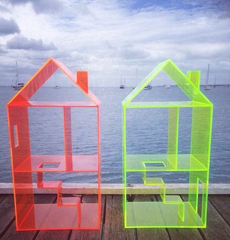 Attic House, an acrylic dollhouse that comes with ...